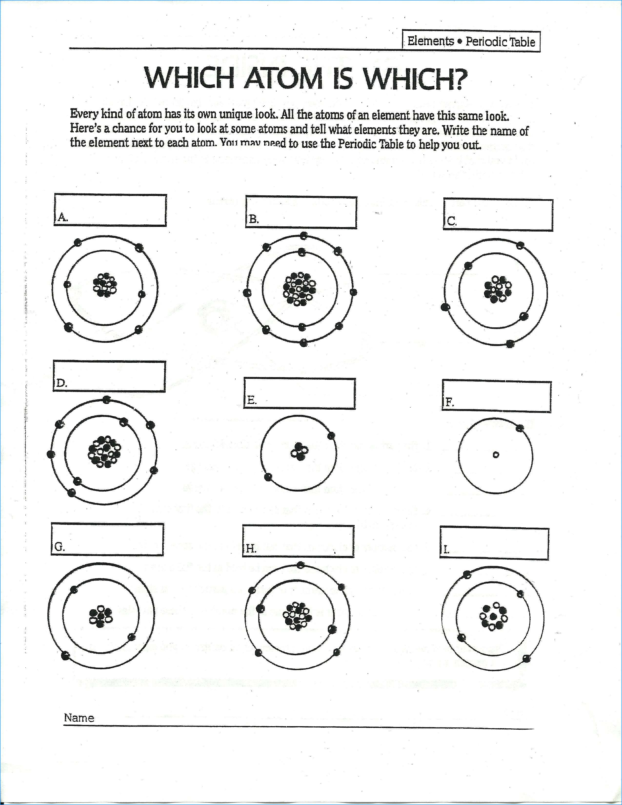 New Periodic Table Worksheet Pdf Answers Chemistry Worksheets Bohr Model Atomic Structure