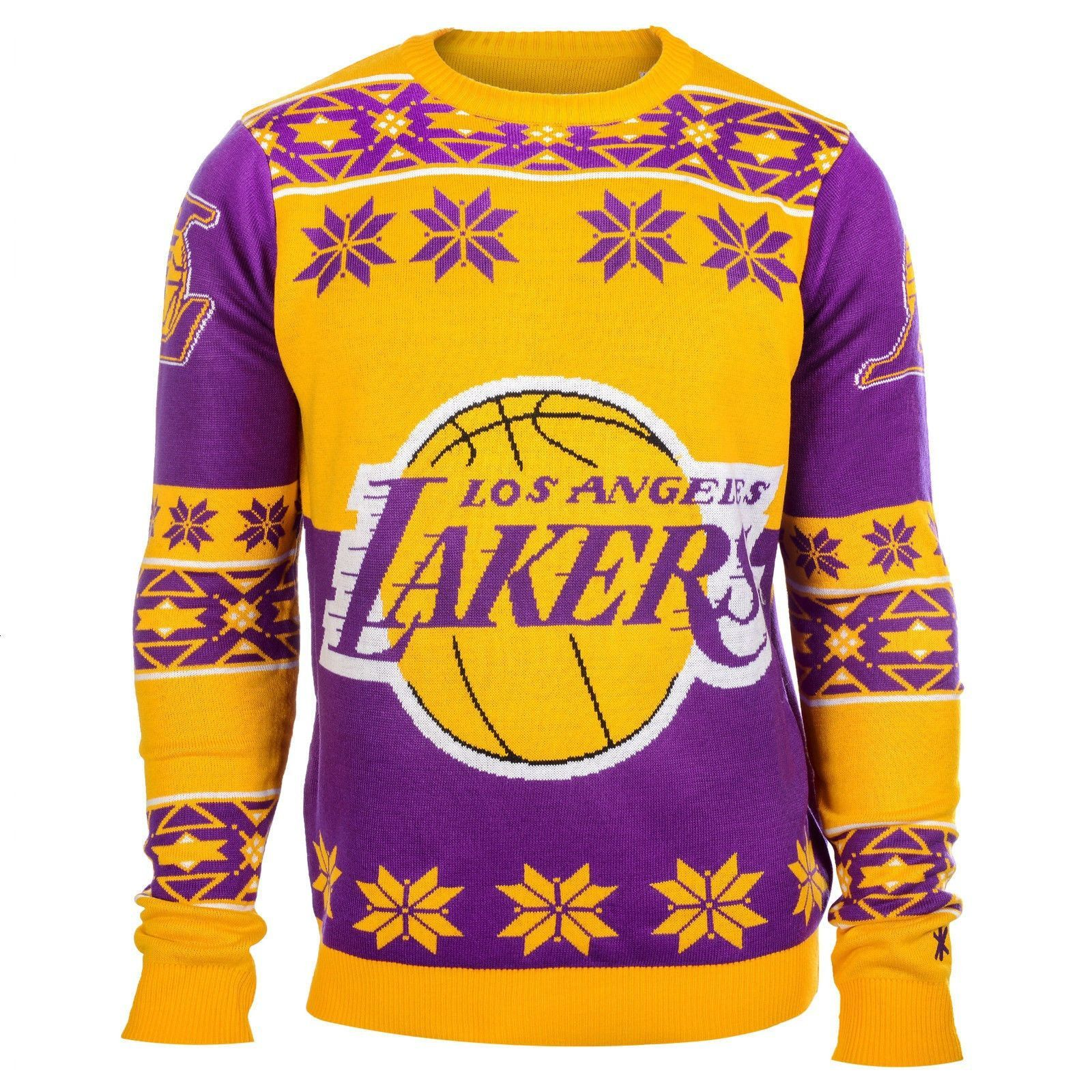 3853e9661 Los Angeles Lakers Crew Style Ugly Sweater