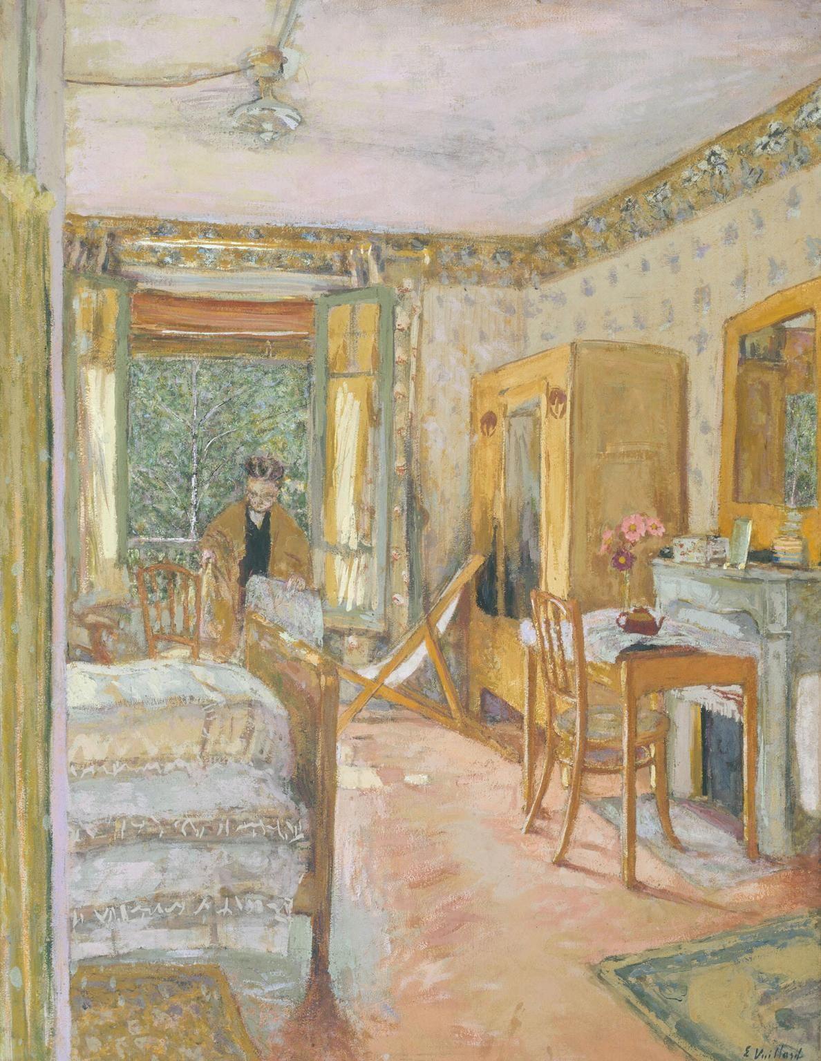 Édouard Vuillard - Sunlit Interior, ca. 1920