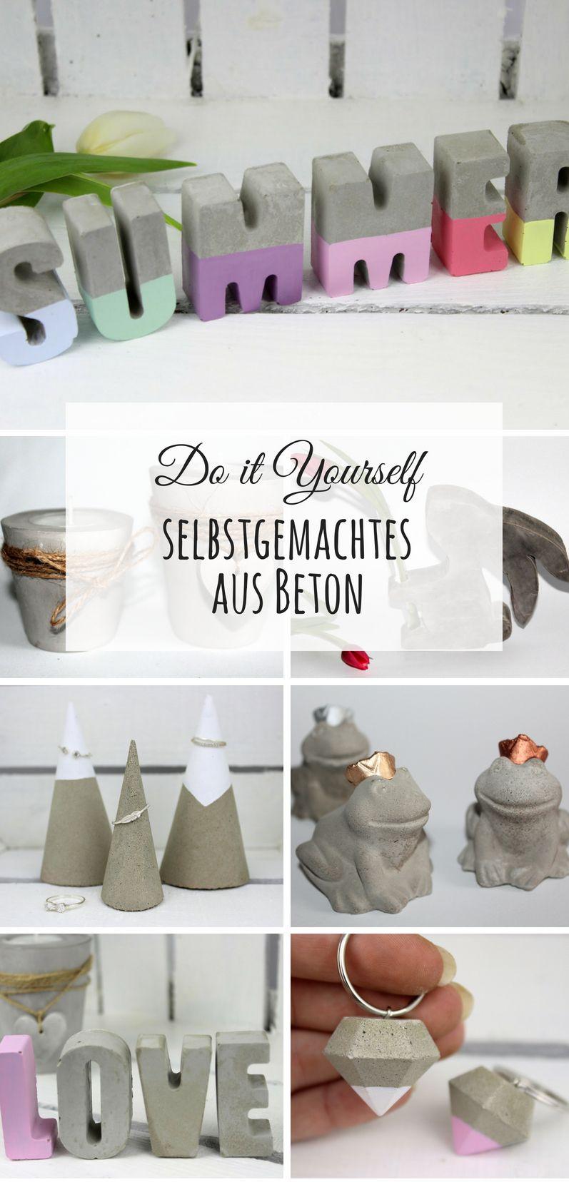 DIY: Die Schönsten do it yourself Ideen aus Beton: DIY, Basteln ...