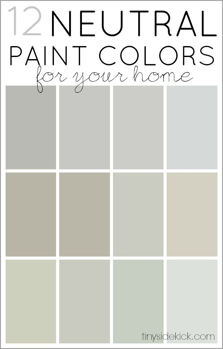 How To Choose Neutral Paint Colors 12 Perfect Neutrals Neutral Paint Colors And Neutral Paint