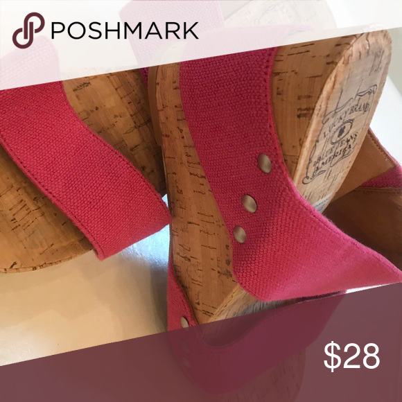 7c84a9124098 Lucky Brand wedges Pink cork Luck Brand wedges Lucky Brand Shoes Wedges
