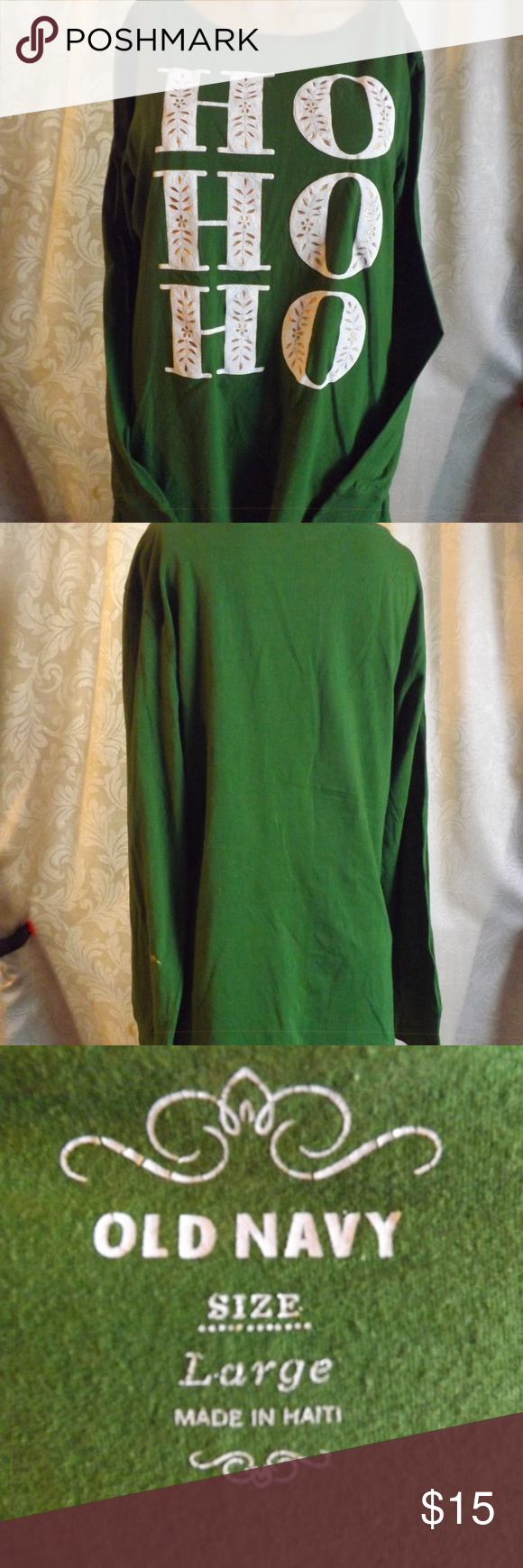 Womens OLD NAVY Christmas Shirt - L/S - Green Sz L in 2018 | My Posh ...