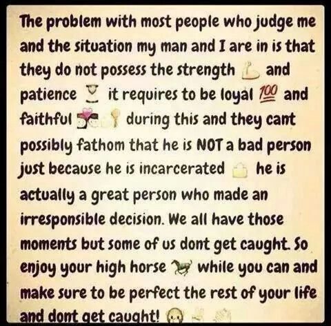 Just Saying Prison Quotes Jail Quote Inmate Love