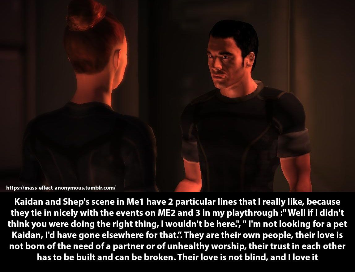 Mass Effect Confessions Confession Kaidan And Shep S Scene In Me1 Have Mass Effect Mass Effect Kaidan Mass Effect Funny