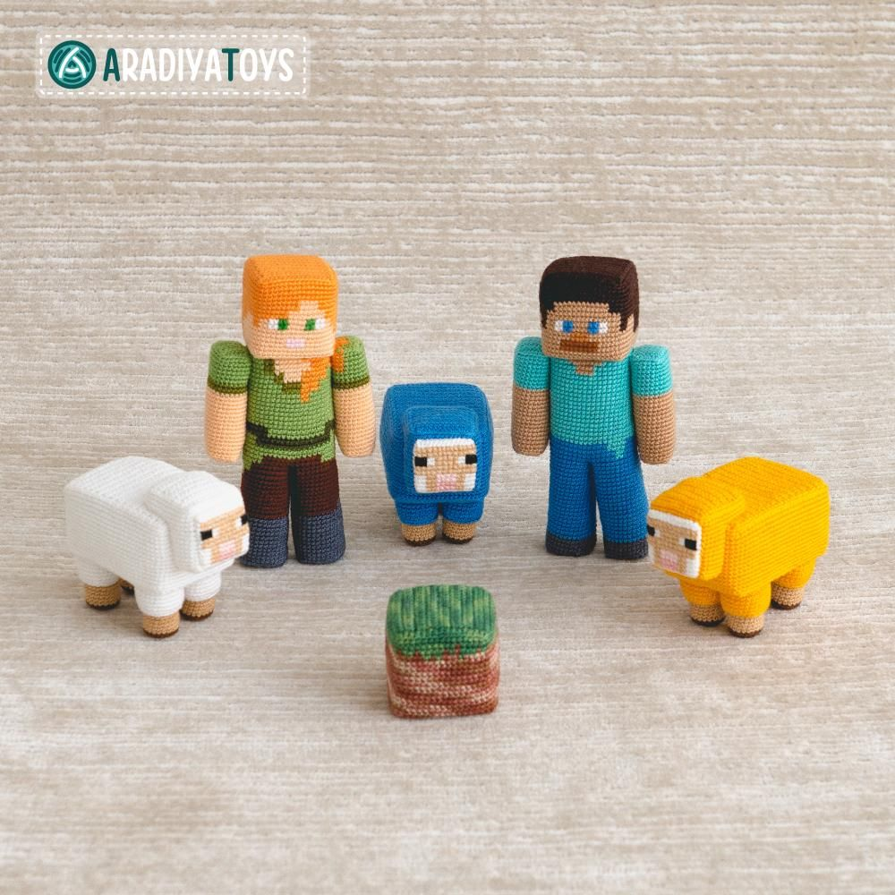 Steve Minecraft amigurumi. Patrón aridiya | Ganchillo minecraft ... | 1000x1000