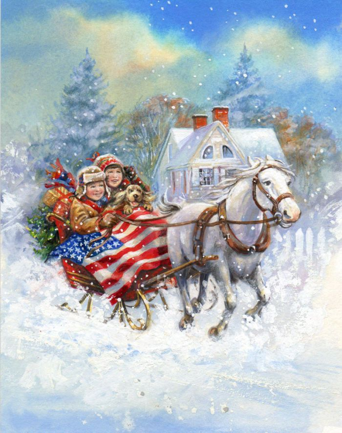 Jim Mitchell - P-S Americana sleighride v2.jpg | Christmas ...