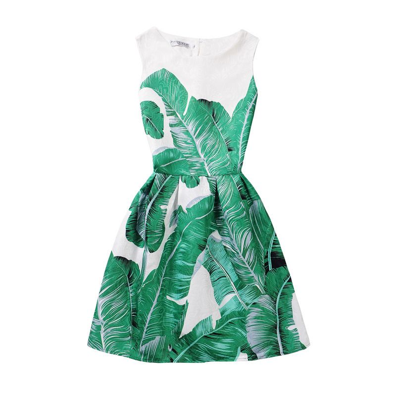 Click to Buy << Butterfly Print Dress Teenagers Dress Pincess Party ...