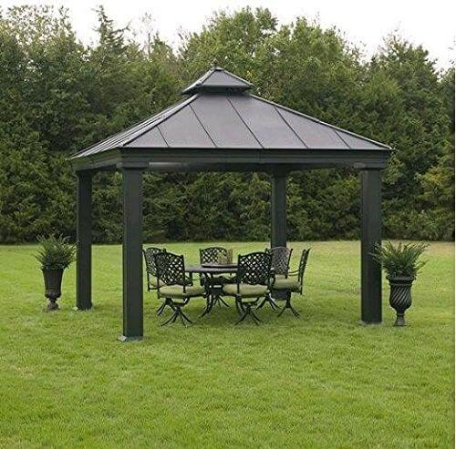 diese einfachen pavillon ist eine funktionale und minimale version von metall pavillon dies ist. Black Bedroom Furniture Sets. Home Design Ideas