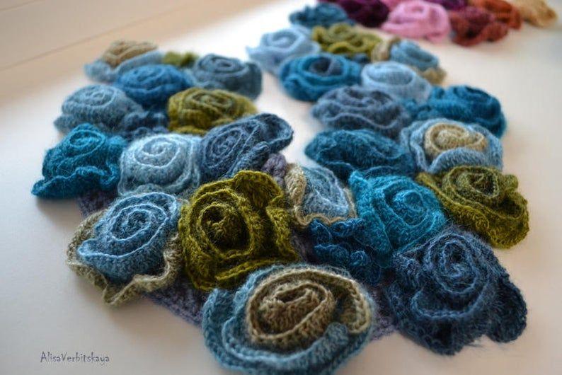 Photo of Boho scialle sera avvolgere blu rosa collare irlandese all'uncinetto caldo scialle Cashmere le dame shawl Ladies