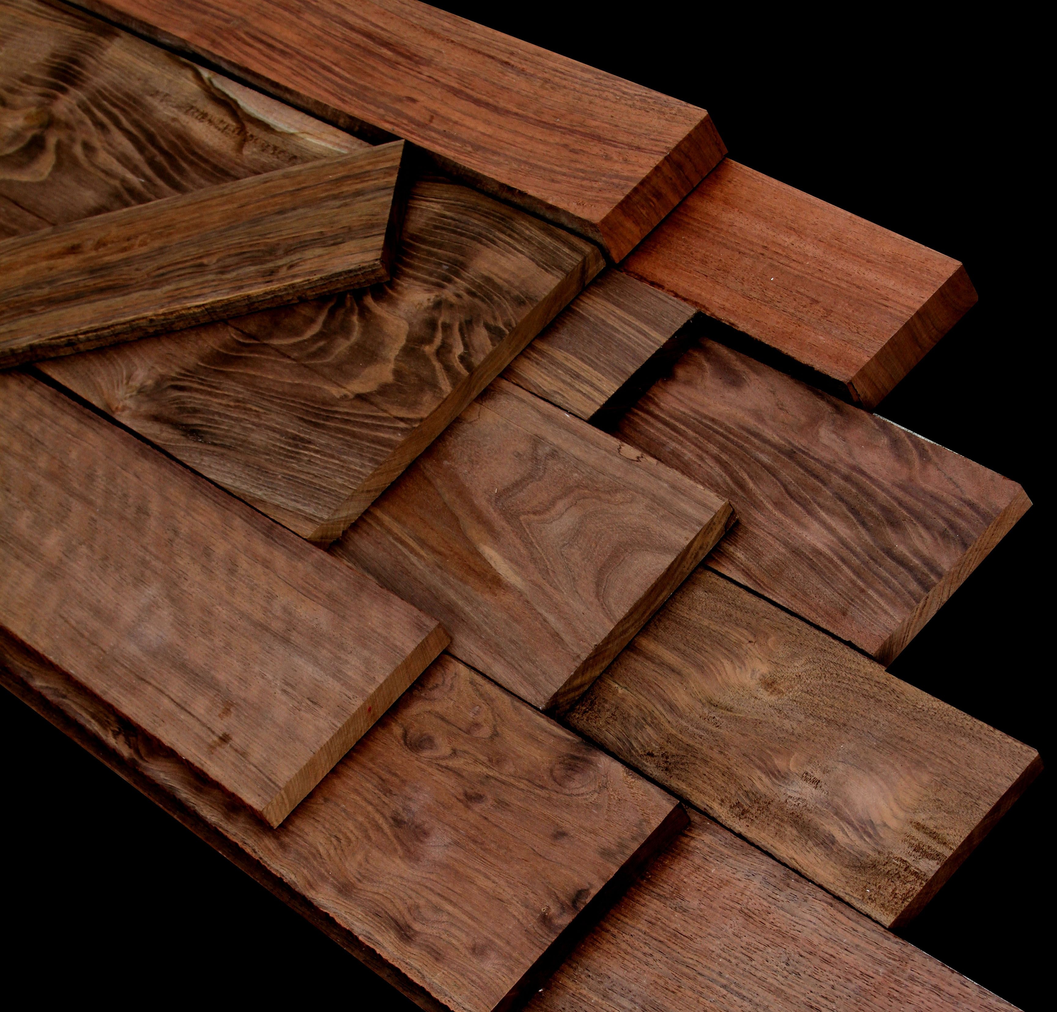 Exotic wood peruvian walnut rich chocolaty