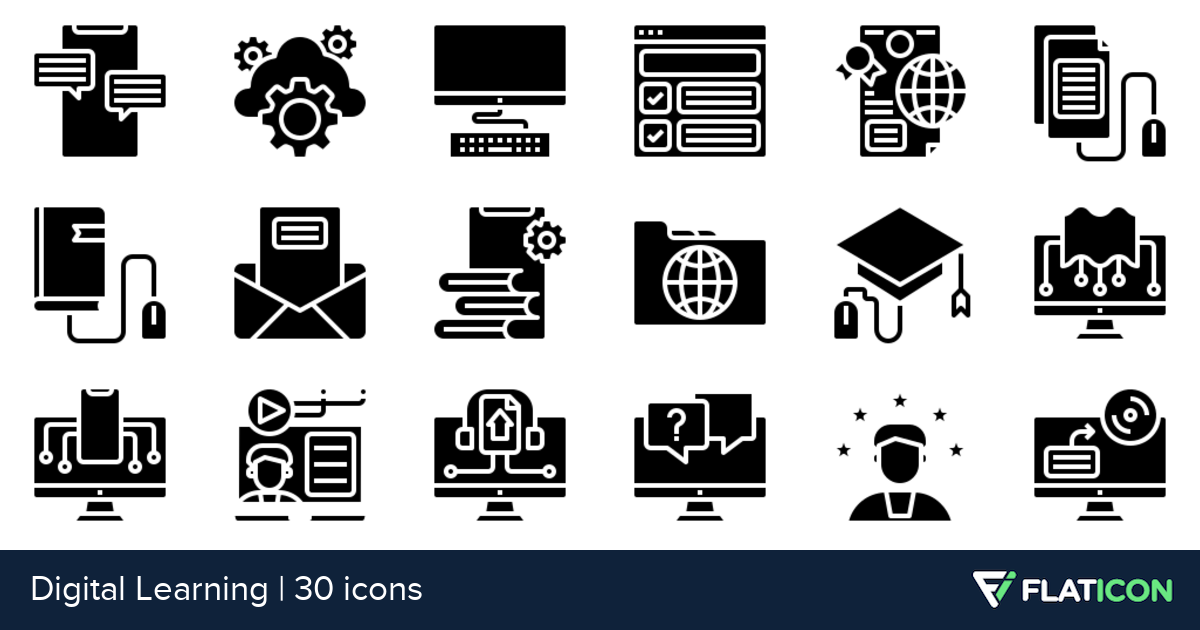 30 Free Vector Icons Of Digital Learning Designed By Phatplus Digital Learning Learning Design Learning