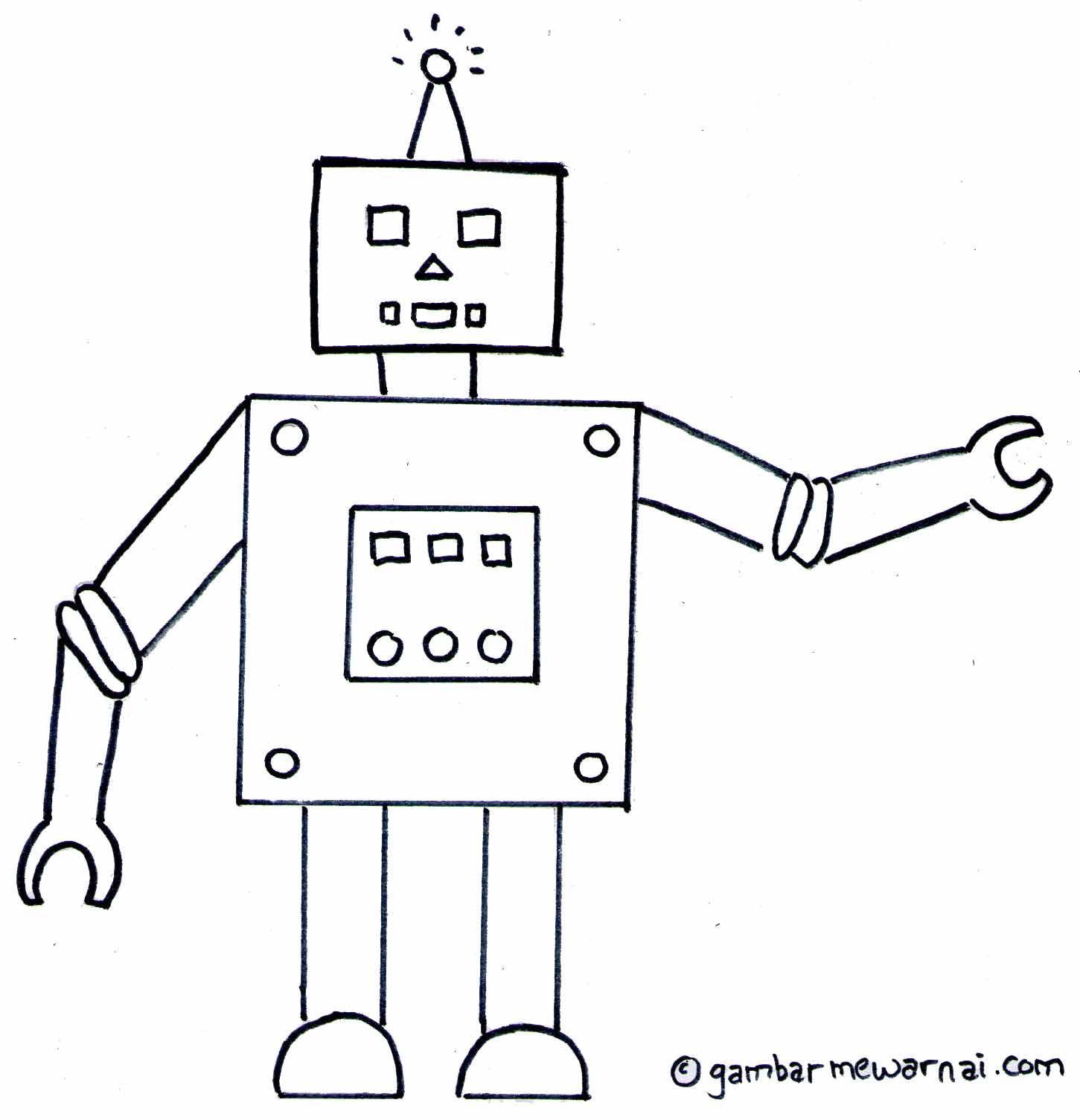 Gambar Mewarnai Robot