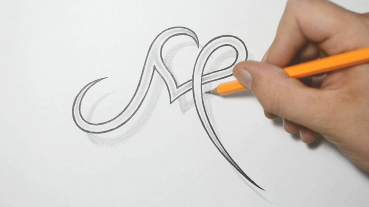 Letter M and Heart Combined - Tattoo Design Ideas for Initials ...