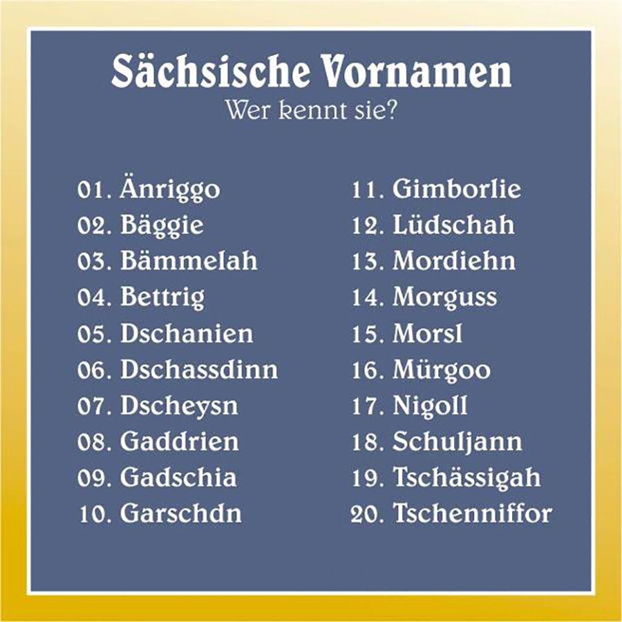 Das sind die 20 beliebtesten sächsischen Vornamen - Home