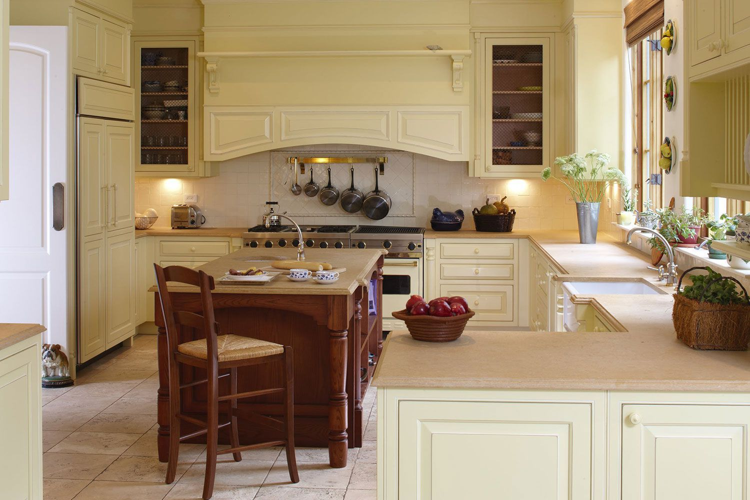 21 yellow kitchen ideas to brighten up your home classic white kitchen kitchen cabinet colors on kitchen interior yellow and white id=80512