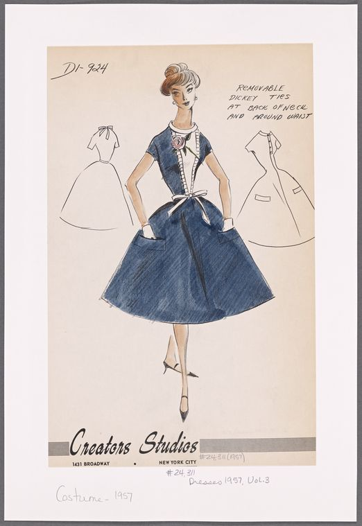 Gorgeous Vintage Dress From The Digital Collection Of The