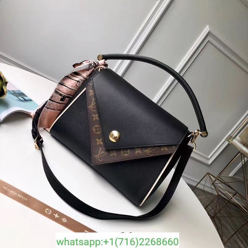 ff471082f6 LOUIS VUITTON DOUBLE V LEATHER TOP HANDLE BAG LV LUXURY BAGS M54439 ...