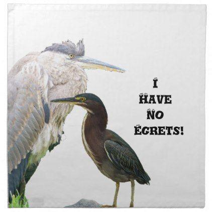 I Have No Egrets! Napkin - kitchen gifts diy ideas decor special unique individual customized