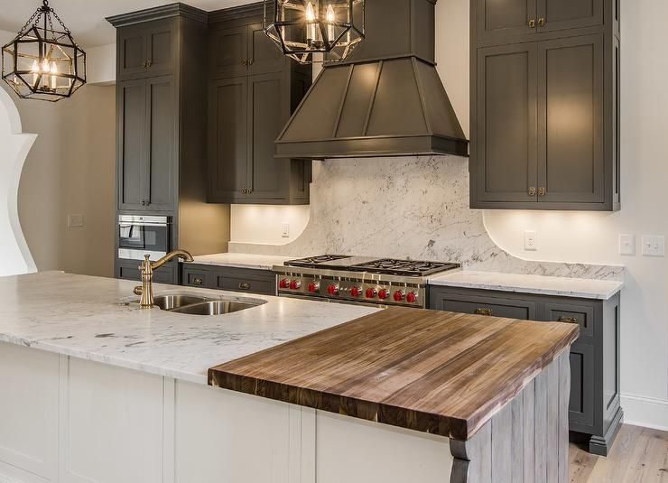 A White Kitchen Island Is Fitted With A Drop Down Butcher