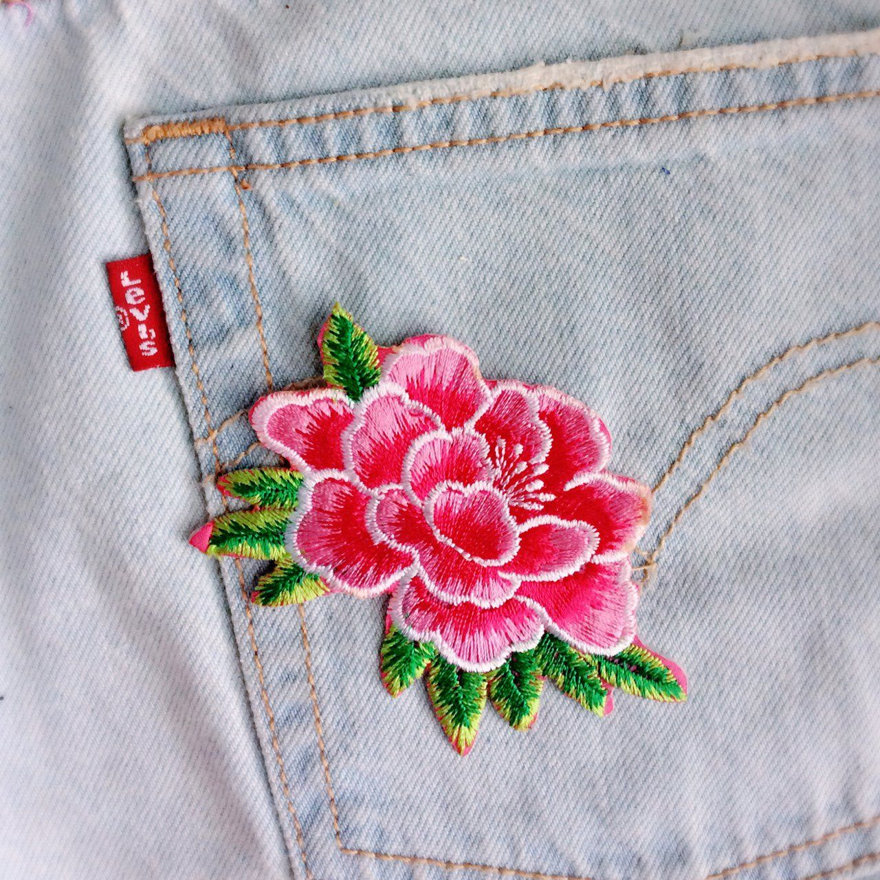 dffa4986e83 🌒🌒🌒M/pink peony/flowers/free shipping/iron on patches/embroidery ...