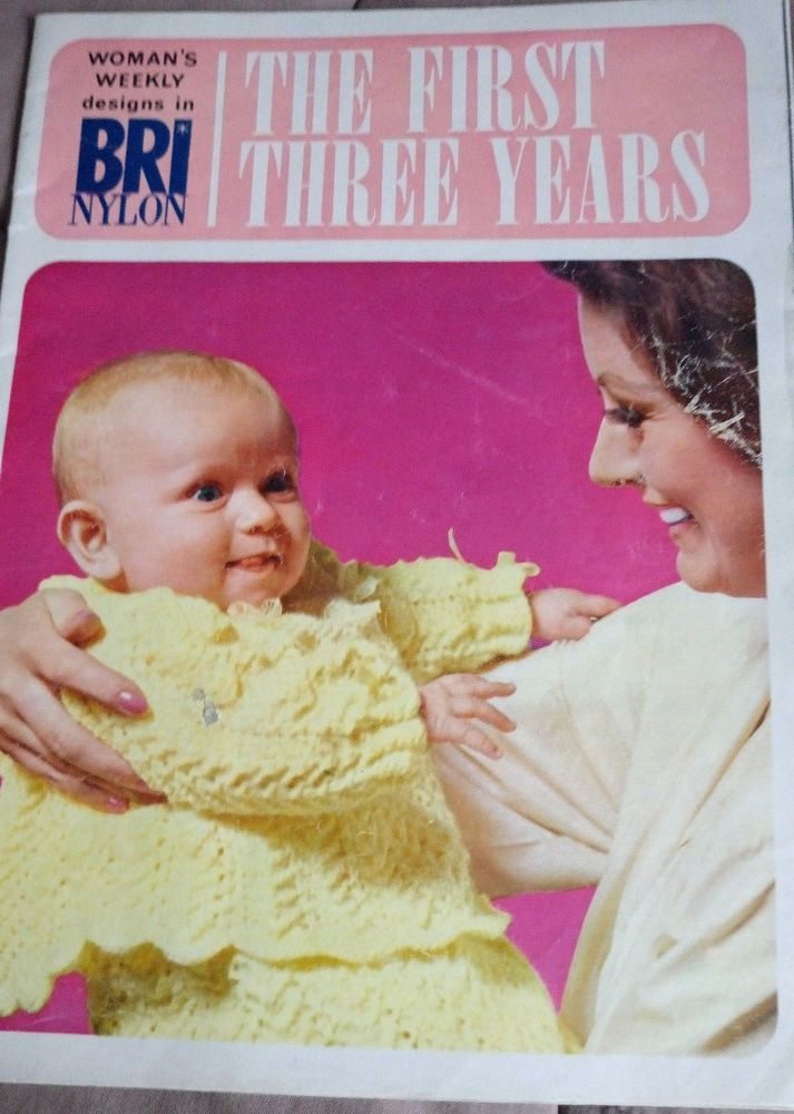 1966 Womans Weekly Baby First 3 Years Vintage Knitting Pattern