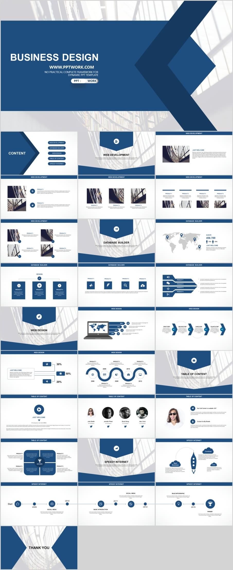 29 blue white business report PowerPoint templatesThe highest quality PowerPoint Templates and Keynote Templates download