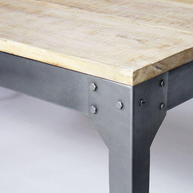 Table Bois Et Metal Avec Allonges Table Industrielle Table Bois Et Salle A Manger Bois