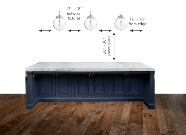 A Kitchen Island Lighting Guide. How Many Light Fixtures? How Big Should  The Lights