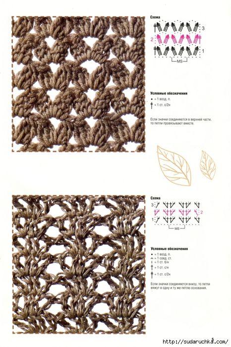 Delicadezas en crochet Gabriela: Libro de puntos fantasía   Punto ...