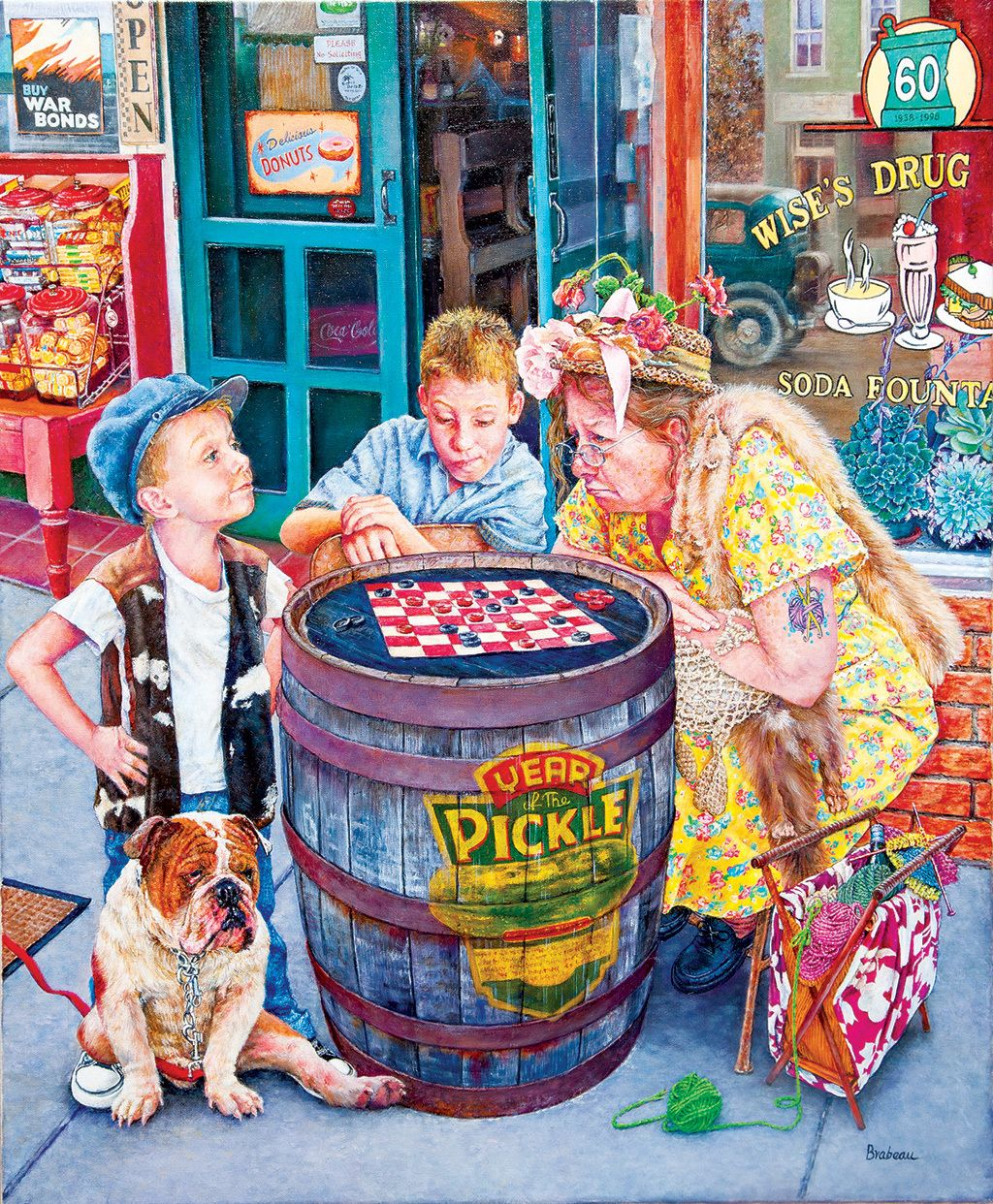 Playing Checkers - 1000pc Jigsaw Puzzle by SunsOut in 2019