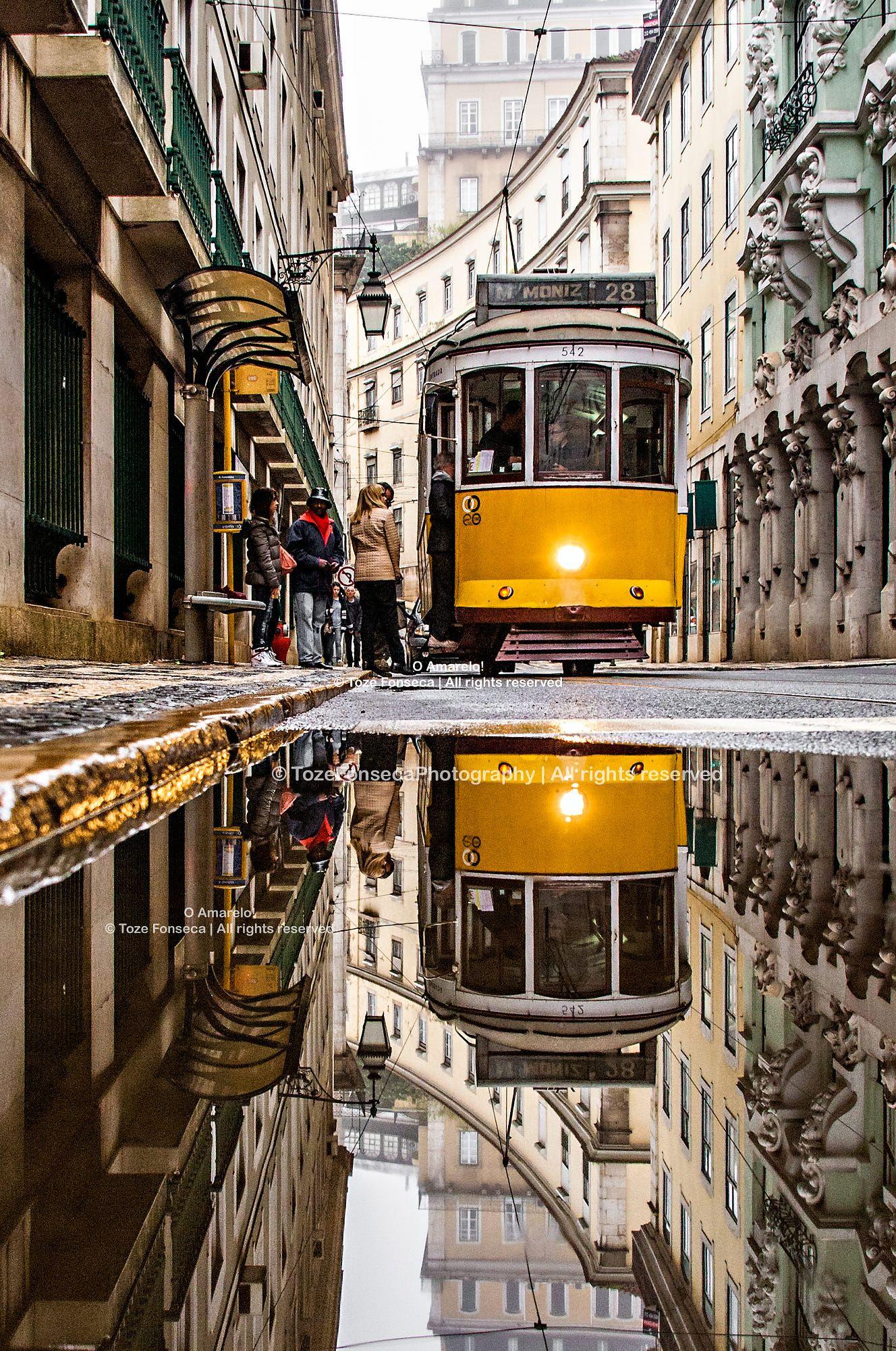 Lisbon Tram Portugal Lissabon Portugal Reisen Portugal Lissabon