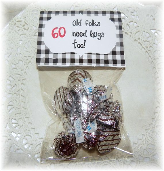 60th Birthday Printable Bag topperpartyfavor DIY Birthdays