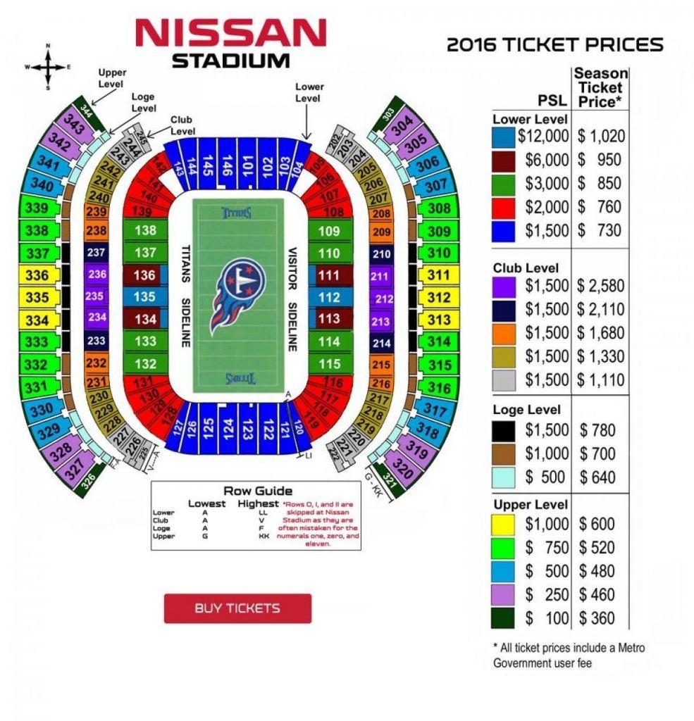 Amazing Nissan Stadium Seating Chart Nissan Stadium Stadium Football Ticket