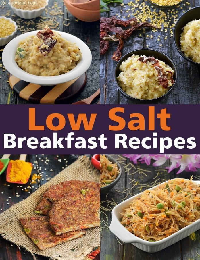 Breakfast Recipes low in salt to reduce High Blood Pressure images