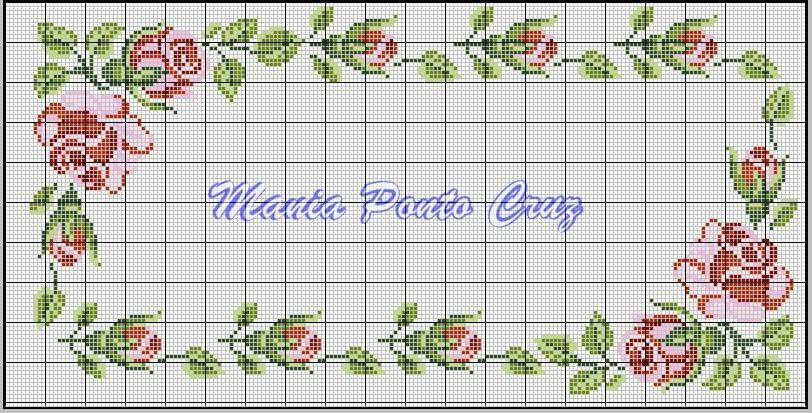 Mantel | punto | Pinterest | Cross stitch borders, Cross Stitch y ...