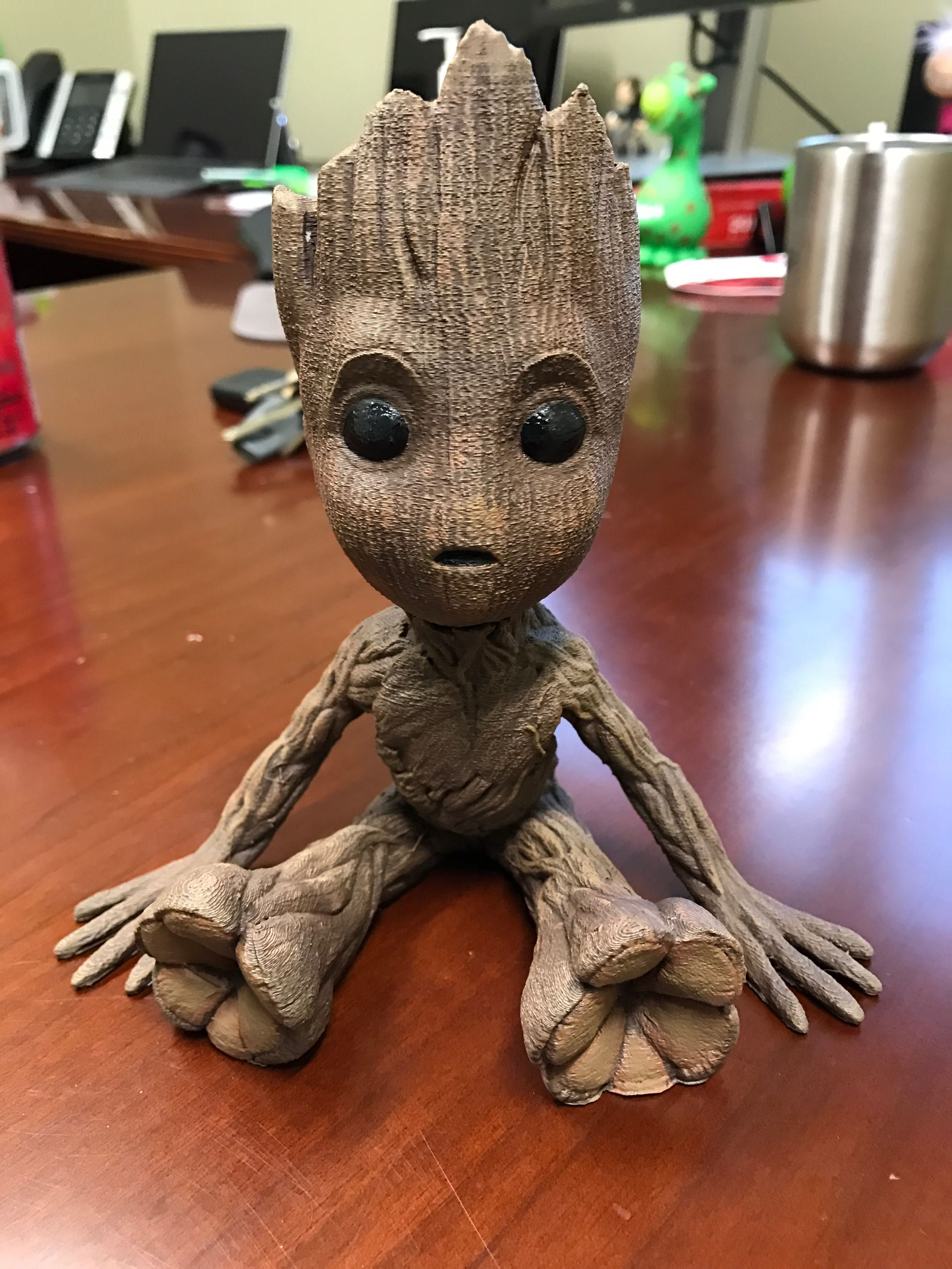 Guardians of The Galaxy Baby Groot Handmade With Flowerpot ActionFigure  PREORDER. Guardians of The G