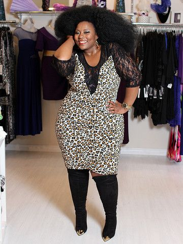 Sonia Leopard Bodycon and Lace Plus Size Dress – SexyPlus Clothing