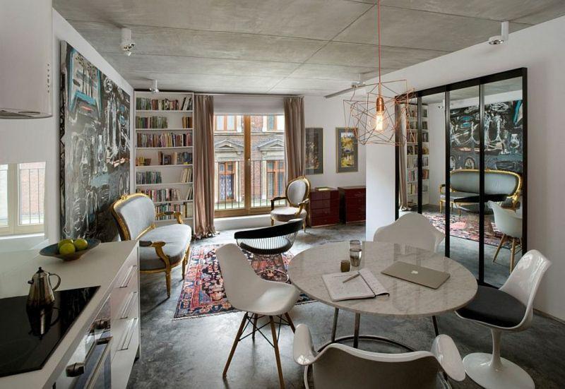 Apartment mit modernen und Vintage Akzenten und eklektischem Stil ...