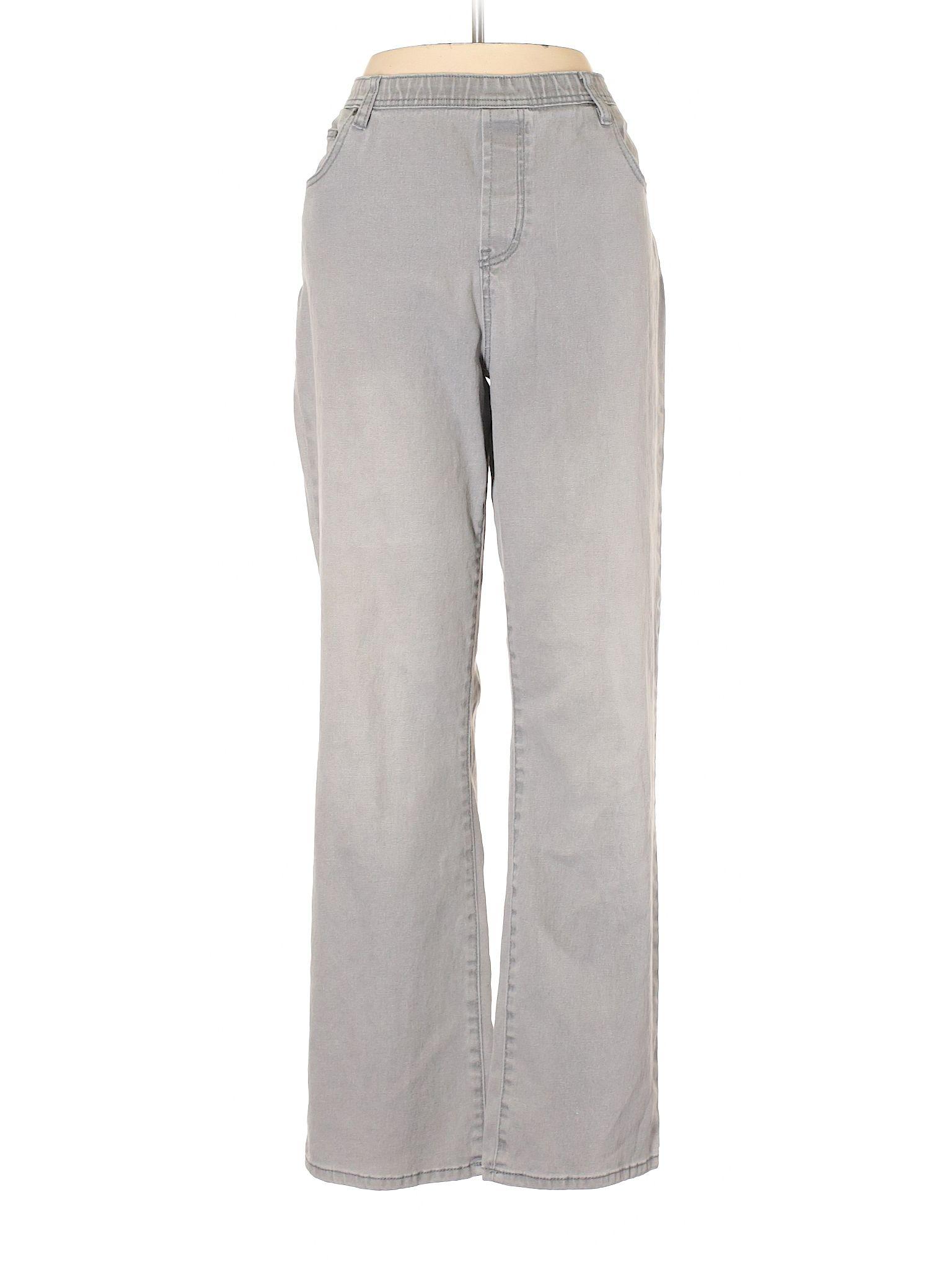 0828a45ceeae DG^2 by Diane Gilman Jeans: Size 12.00 Gray Women's Bottoms - $9.99