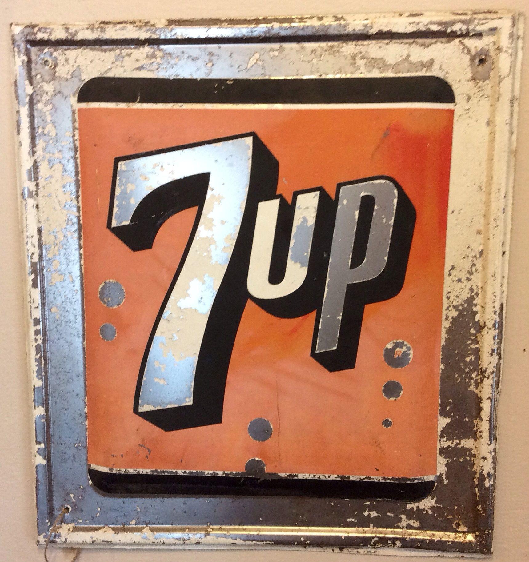 7 Up Vintage Metal Sign Vintage Metal Signs Retro