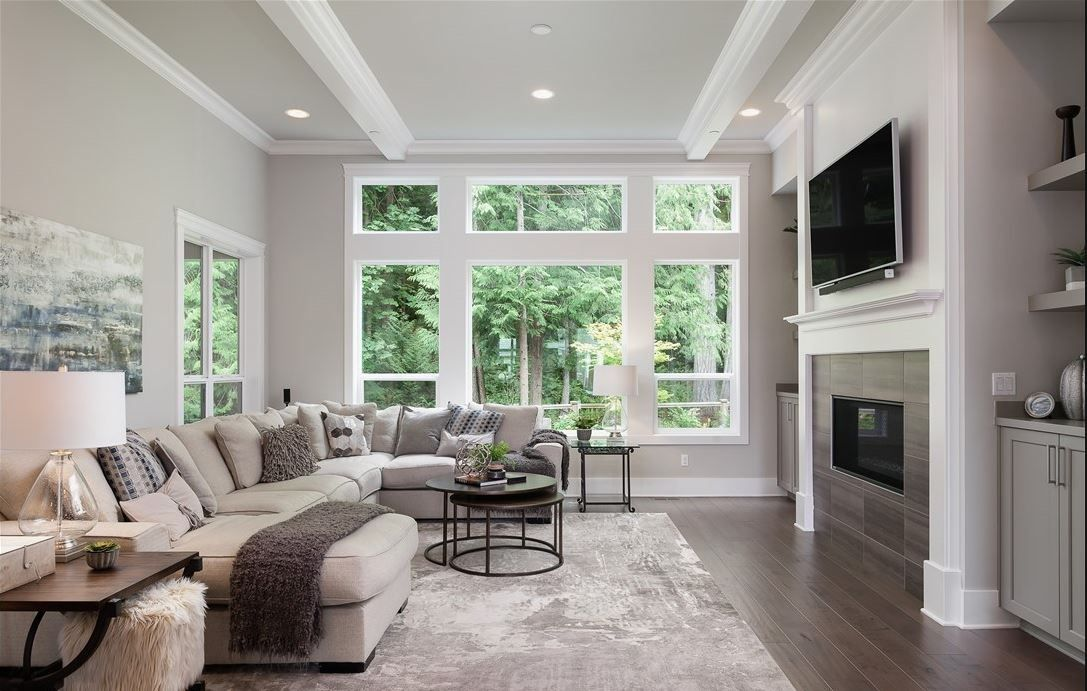Dream House Great Room Living Room With Couch And Tv White Modern Cool Great Rooms Dream House Living Room