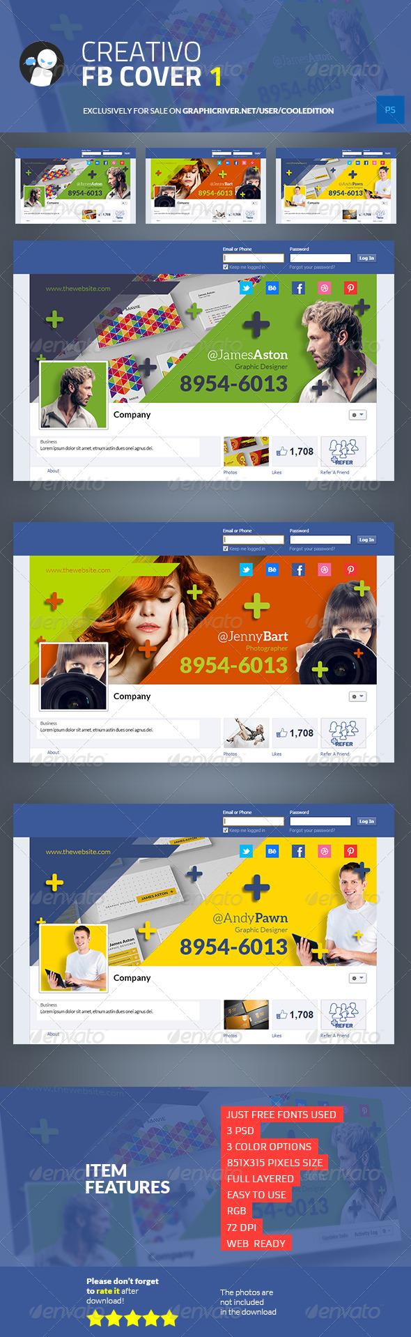 Creativo Facebook Cover 1 - $3
