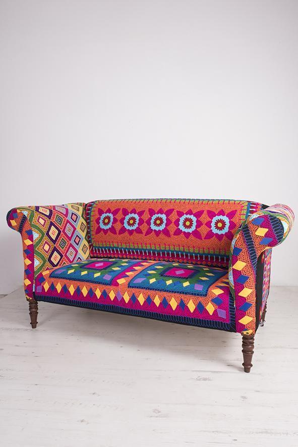 Mexican Embroidered Sofa Handmade And Fairtrade Ian Snow Ltd
