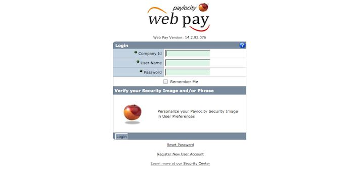 Paylocity Login Login page, Company id, Reset password
