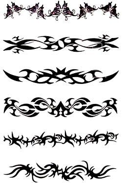 Best Black Ink Tribal Armband Tattoos Designs My Choise