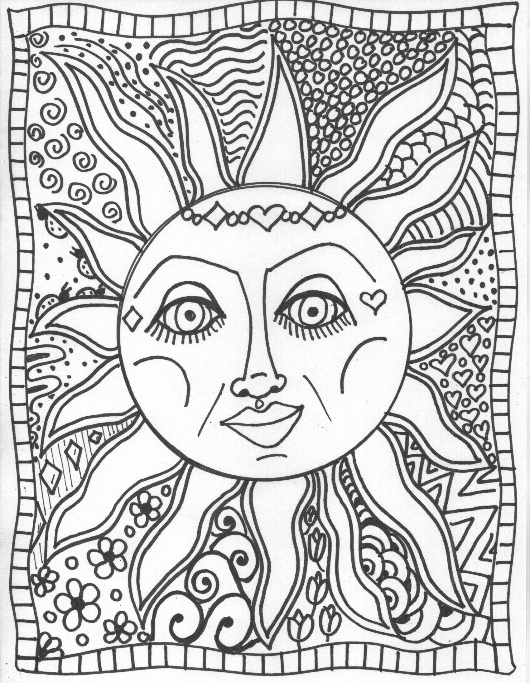 Coloring Pages For All Ages Luxury Cartoon Hippie Coloring Pages In 2020 Moon Coloring Pages Mandala Coloring Pages Tumblr Coloring Pages