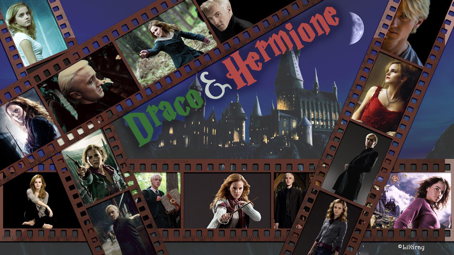 Draco Malfoy Hermione Granger Filmstrip Wallpaper I Made Draco Malfoy Stripped Wallpaper Hermione Granger