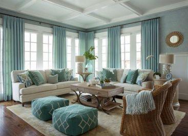 43 Stylish Coastal Living Room Decoration Ideas #coastallivingrooms