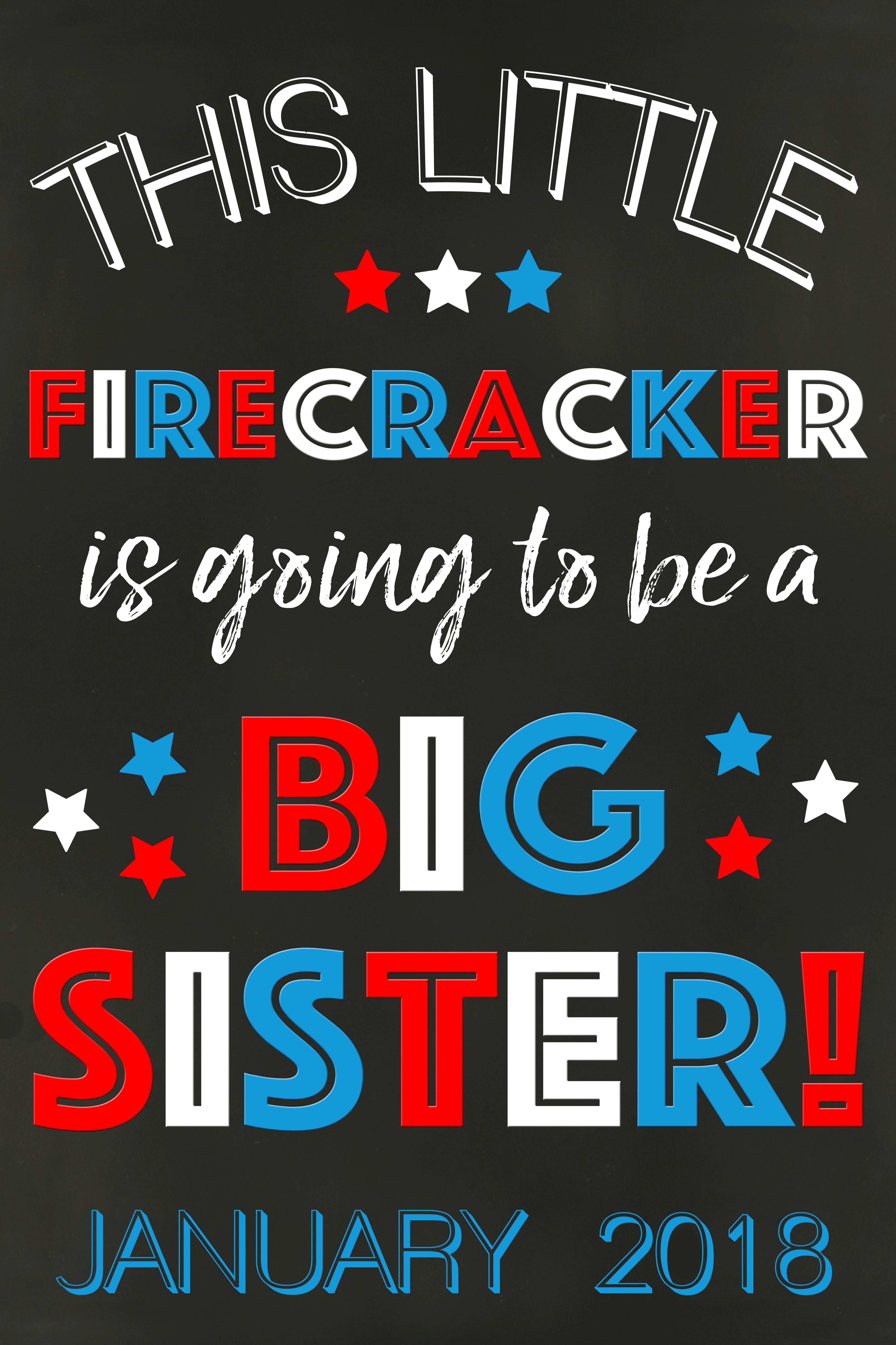 4th of July Pregnancy Announcement Sign, DIGITAL, 4th of July Pregnancy Reveal, New Baby Chalkboard Poster, This little firecracker is going